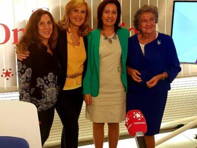 Con Nieves Herrero en Telemadrid, por el Día Mundial de la Osteoporosis 2018