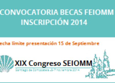 Convocatoria BECAS FEIOMM Inscripción XIX Congreso Santiago de Compostela 2014