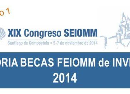 CONVOCATORIA BECAS FEIOMM INVESTIGACIÓN 2014