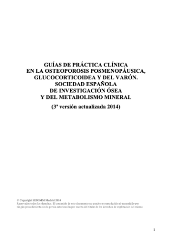 Guía Clínica SEIOMM 2014