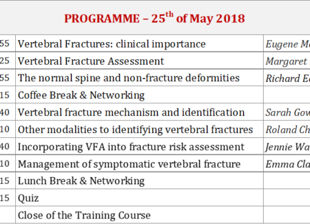 ECTS-Mellanby-SEIOMM Training on Identification of Vertebral Fractures