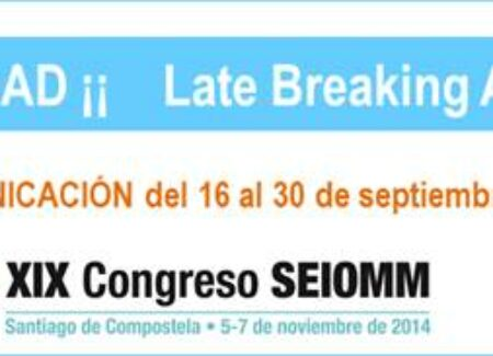 ¡¡ NOVEDAD !! Late Breaking Abstracts