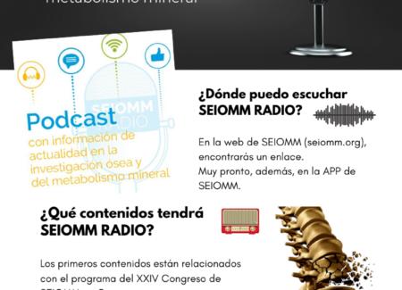 Ha nacido SEIOMM RADIO, la colección de podcasts con la que SEIOMM divulgará la investigación en el campo del hueso