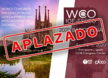 El Congreso de Osteoporosis de WCO-IOF-ESCEO de Barcelona, aplazado a agosto