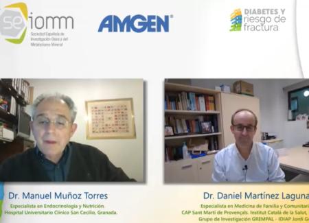 El Dr. Daniel Martínez Laguna imparte la webinar SEIOMM «Diabetes y riesgo de fractura»