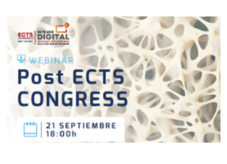 """""""Webinar Post ECTS 2021"""", el 21 de septiembre y con el aval de la SEIOMM"""