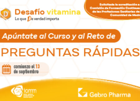 Programa formativo 'Desafío Vitamina D. Lo que D Verdad importa', con el aval de la SEIOMM.